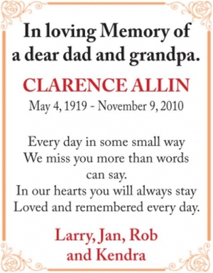 Clarence  ALLIN