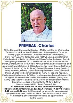 Charles  PRIMEAU