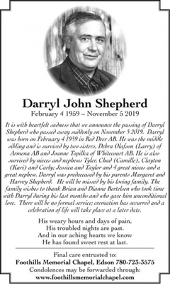 Darryl John  SHEPHERD