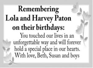 Lola  Harvey  PATON