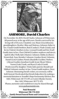 David Charles  ASHMORE
