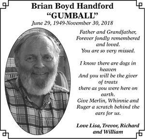 Brian Boyd GUMBALL  HANDFORD