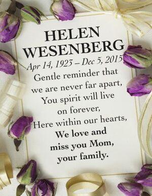 Helen  WESENBERG