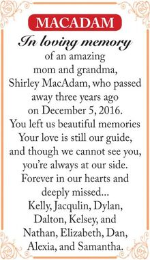 Shirley  MACADAM