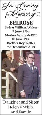 William Walter  Valma DeEtte  Roy Walter  BELROSE