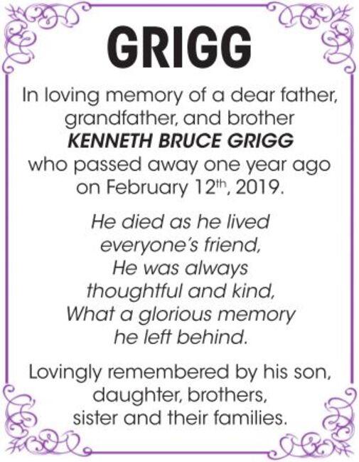 Kenneth Bruce  GRIGG