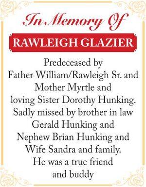 Rawleigh  GLAZIER