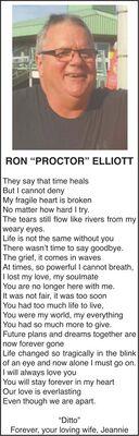 Ron PROCTOR  ELLIOTT