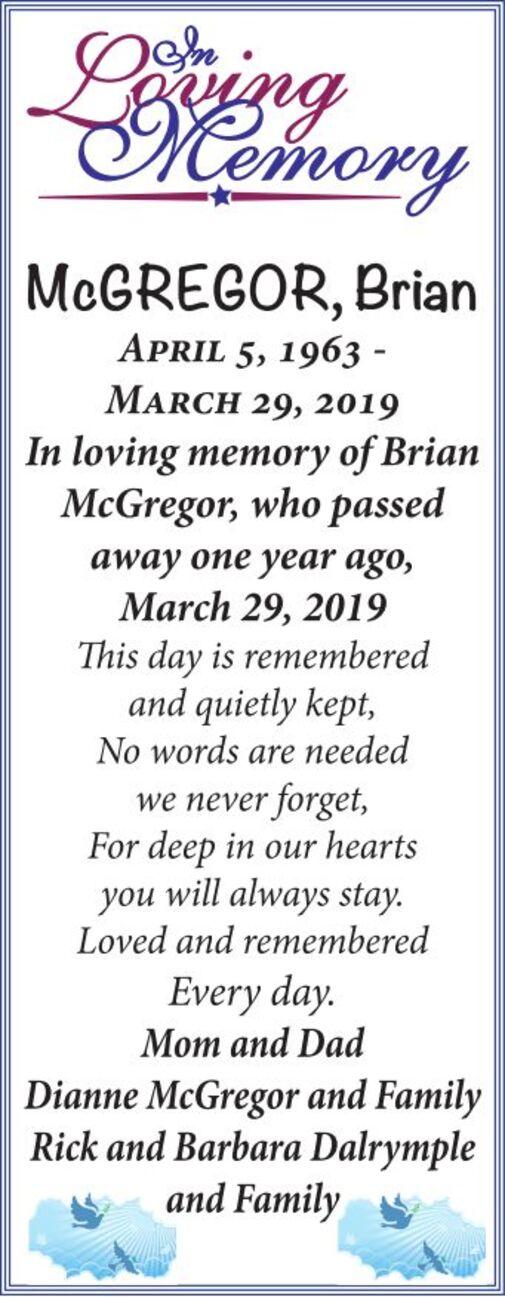 Brian  McGREGOR