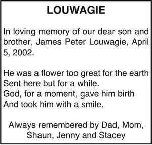 James Peter  LOUWAGIE