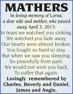 Lorna  MATHERS