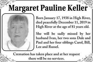Margaret Pauline  KELLER