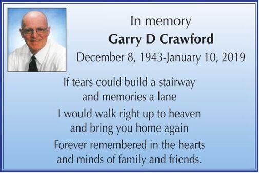 Garry D  CRAWFORD