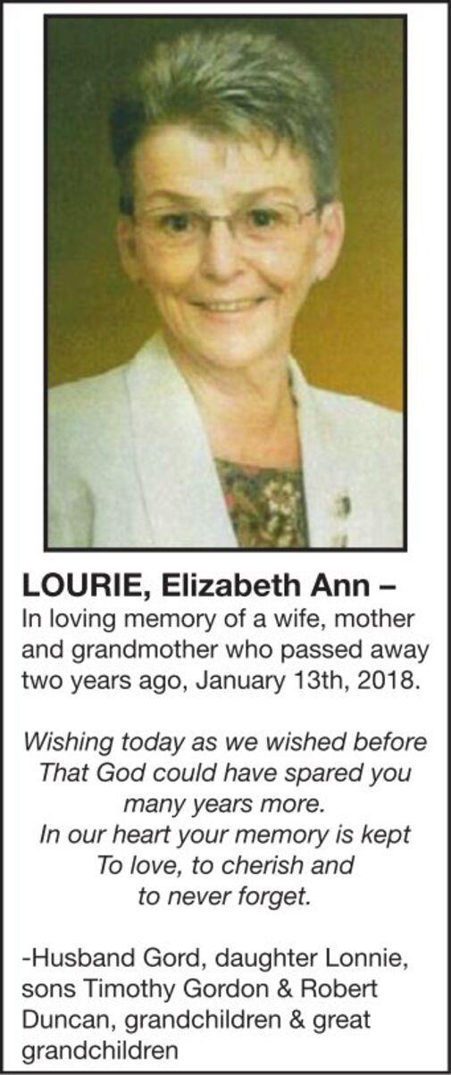 Elizabeth Ann  LOURIE