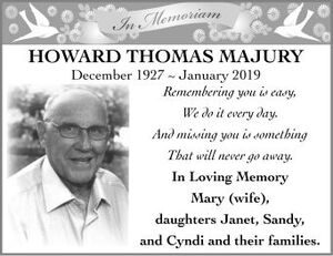 Howard Thomas  MAJURY