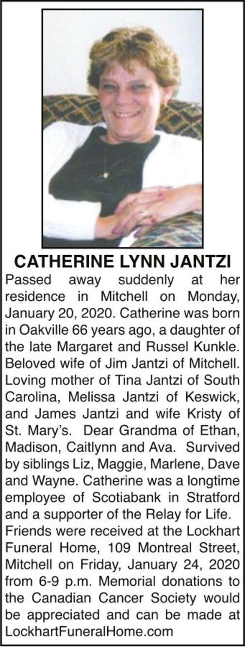Catherine Lynn  JANTZI