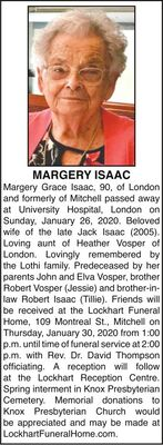 Margery  ISAAC