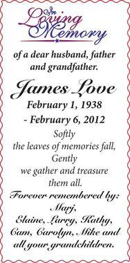 James  LOVE